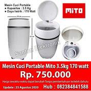 Mesin Cuci Portable Mito 3.5kg 170 Watt WM1 Garansi Resmi (29634675) di Kota Pekanbaru
