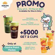 KOKUMI Promo Bisa dapet 2 minuman hanya dengan menambahkan Rp5.000 aja! (29688835) di Kota Medan