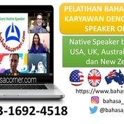 Pelatihan Bahasa Inggris Karyawan Dengan Native Speaker Online (29698920) di Kota Jakarta Timur