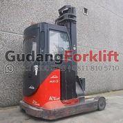 Linde Forklift Reach Truck R20 Cabin Second (29726518) di Kota Jakarta Utara