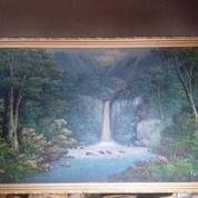 Lukisan Kanvas Tema Hutan Dan Air Terjun (29766866) di Kota Jakarta Selatan