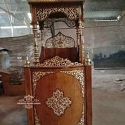 Mimbar Masjid Kubah Ukir Custom (29787638) di Kab. Rokan Hilir