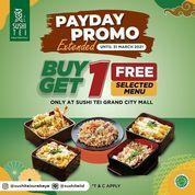 Grand City Mall Surabaya Sushi Tei Lovers Promo Payday diperpanjang hingga 31 Maret 2021 loh !! (29836122) di Kota Surabaya