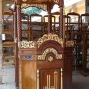 Mimbar Masjid Kubah Gendong Kayu Jati (29850360) di Kab. Rokan Hilir