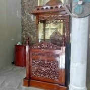 Mimbar Masjid Kubah Ukir Kayu Jati (29850364) di Kab. Rokan Hilir