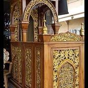 Mimbar Masjid Kubah Ukir Custom (29850428) di Kab. Rokan Hilir