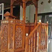 Mimbar Masjid Kubah Tangga Full Ukir (29850431) di Kab. Rokan Hilir