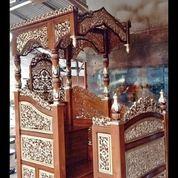 Mimbar Masjid Kubah Ukir Kaligrafi (29850438) di Kab. Rokan Hilir