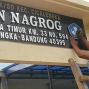 Jasa Pembuatan Huruf Timbul Stainless Merek Sekolah Sibolga (29870703) di Kab. Way Kanan