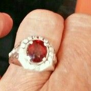 Cincin Perak Batu Permata Red Rhodolite Kristal Bening HQ Natural (Asli Batu Alam) (29900345) di Kota Bekasi