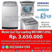 Mesin Cuci Otomatis Top Loading Samsung 10kg WA10M5120SG Garansi Resmi Motor 5 Tahun (29932360) di Kota Pekanbaru