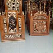 Mimbar Masjid Minimalis Kayu Jati (29936205) di Kota Dumai