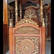 Mimbar Masjid Kubah Ukir Kayu Jati (29936206) di Kota Dumai