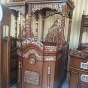 Mimbar Masjid Kubah Gendong Kayu Jati (29936207) di Kota Dumai