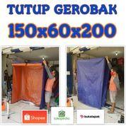 TERPAL TUTUP ETALASE TUTUP GEROBAK 150X60X200 CM (29966020) di Kota Jakarta Barat