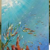 Lukisan Abstrak Under Water (29968711) di Kota Yogyakarta