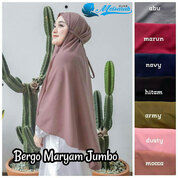 Hijab Instan Bergo Maryam Jumbo Bahan Diamond Crepe Premium (29985134) di Kota Tasikmalaya