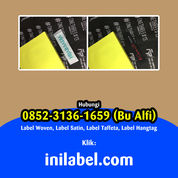 Bu Alfi085231361659 Tempat Bikin Label Baju Parigi Pangandaran (30038248) di Kab. Pangandaran