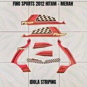 Striping Fino Sports 2012 Hitam - Merah (30053545) di Kota Jambi
