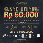 Captain Barbershop Promo grand opening BAYAR SUKA-SUKA (30059070) di Kota Jakarta Utara