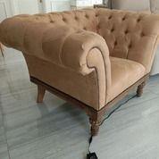 Sofa Chesterfield Single Seater Mewah, Kondisi Baru! (30069556) di Kota Jakarta Utara