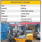 Forklift 3 Ton Mesin ISUZU C240 Mast 3 Meter Merk VMAX Malang (30087801) di Kab. Malang