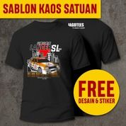 [FREE DESAIN] TEMPAT JASA SABLON KAOS SATUAN TERDEKAT KEDIRI L JAGOTEES (30113129) di Kota Kediri