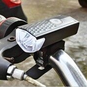 Lampu Senter Sepeda Depan LED USB Rechargeable (30174329) di Kota Bandar Lampung
