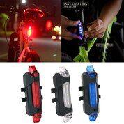 Lampu Sepeda Belakang Led USB (30174343) di Kota Bandar Lampung
