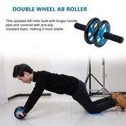 Double AB Wheel Roda Exerciser Roll Gym Fitnes (30175731) di Kota Bandar Lampung
