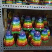 Menara Bintang Bunga Pelangi Warna Mainan Kayu Edukasi (30175970) di Kota Palangkaraya