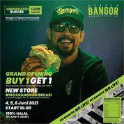 Burger Bangor Grand Opening Promo BUY ONE GET ONE (30176183) di Kota Bekasi