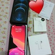 IPHONE12 PRO MAX 128 GB + AirPods + ADAPTOR, Kondisi Masih Sangat Baik, Baru Di Beli 2 Juni 2021 (30231542) di Kota Bogor