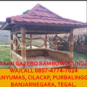 Awet!! Call 0857-4774-7024 Pengrajin Gazebo Bambu Hitam Purbalingga (30235043) di Kab. Boyolali