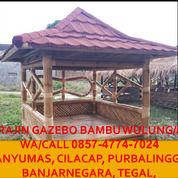 Tahan Lama!! Call 0857-4774-7024 Pembuat Saung Gazebo Bambu Hitam Banjarnegara (30235051) di Kab. Brebes