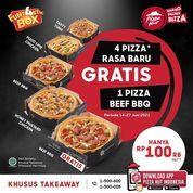 Pizza Hut promo beli 4 pizza rasa baru #FUNT4STICBOX GRATIS 1 Pizza Beef BBQ tambahan! (30252573) di Kota Jakarta Selatan