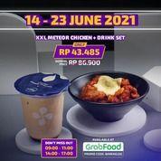 Moon Chicken Promo XXL Meteor Chicken + drink set only in GrabFood. (30253377) di Kota Jakarta Selatan