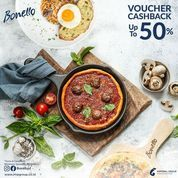 Bonello Cashback Voucher 50% with min spend IDR 200.000++ (inc promo menu's) (30253501) di Kota Jakarta Selatan