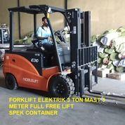 Forklift Elektrik 3 Ton Mast 3 Meter Full Free Lift Merk NOBLELIFT Pasuruan (30305451) di Kota Pasuruan