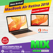 "MacBook Air Retina 2018 13"" 8GB/128GB Intel Core I5 1.6GHz (30344911) di Kota Bandung"
