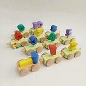 Kereta Angka 1-10 Mainan Kayu Edukatif Anak SNI (30391336) di Kab. Tanggamus