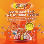 Tehbotol Sosro bagi-bagi THR 10 Milyar rupiah buat kamu semua kita perpanjang Hingga 31 Juli 2021 (30414919) di Kota Jakarta Selatan