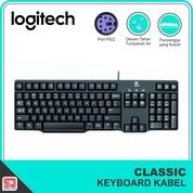 Logitech K100 Keyboard Classic PS/2 Port Bulat Original (30436583) di Kota Surakarta