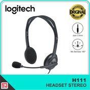 Logitech H111 Headset Stereo 3.5 Mm Mic Flexible Handset Headphone (30438953) di Kota Surakarta