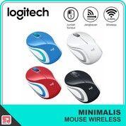 Mouse Wireless Mini Logitech M187 ( White, Black, Blue, Red ) Original (30439084) di Kota Surakarta