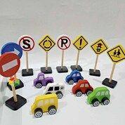 Miniatur Kendaraan & Rambu Lalu Lintas Mainan Kayu Edukasi Anak PAUD (30444134) di Kab. Sleman