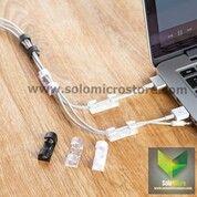 Klip Kabel Klip Organizer Cable Clip 20pcs Tempel Di Dinding Meja Rapi Termurah (30472036) di Kota Surakarta