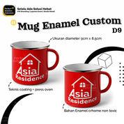 Gelas Cangkir Enamel Diameter 9CM 400ml Custom Design (30518281) di Kota Jakarta Timur