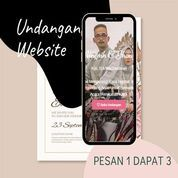 Undangan D I G I T A L Pernikahan Video W E B S I T E Buy 1 Get 3 (30518709) di Kota Bandung