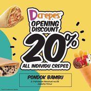 Dcrepes Opening Discount 20 % All Individu Crepes !! (30518972) di Kota Jakarta Timur